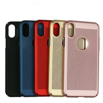Luxury Ultra Thin PC Mesh Hard Back Case Cover for Apple iPhone X