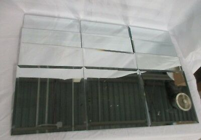 12 Square Beveled Edge Glass Mirrors 8 Inches For Centerpieces (AD)