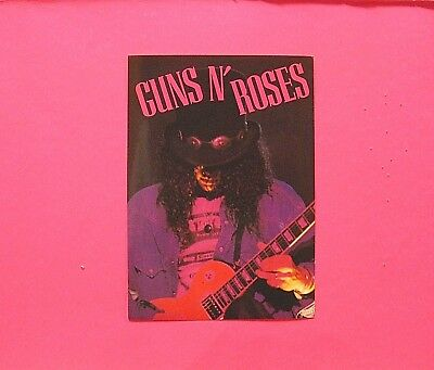 Official Slash Guns N Roses Vintage Sticker Not Poster Patch Pin Shirt Uk Made