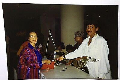 Vintage PHOTO Pair Of African American Female Holding Posing With Donation Check