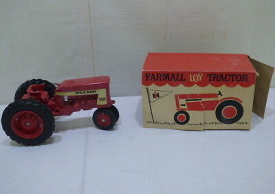 Vintage International Harvester #6344 Farmall Red Toy Tractor In Original Box