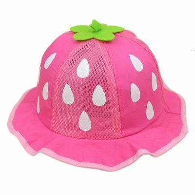 Mesh Sunhat Baseball Hat Kids Caps Cap Boys Girls Strawberry Raindrop Shaped