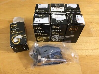 One Vincent Bach Size 6 Cornet Mouthpiece - New! Seven Are Available.