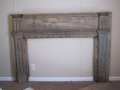 Painted Wood Federal Fireplace Mantle
