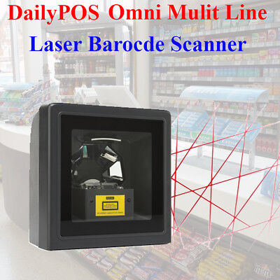 New Omni Laser Table Barcode Scanner USB for POS Point of sale Retail Multi Line