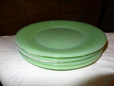 "Lot of 2 Fire King  Jade-ite #G3851 Dinner Plates 9 1/8 "" dia."