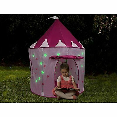 Little Princess Tent Pink Toys for Girls Toddler Girl Room Decor With Glow Stars