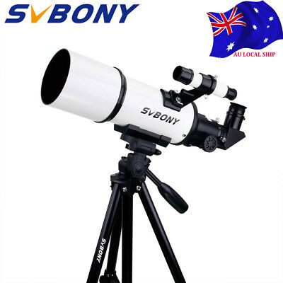 SVBONY SV20 80mm Refractor Telescope FullyCoated Glass Optical+tripod&Adapter AU