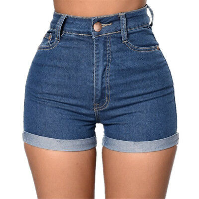 Women Shorts Jeans High Waist Mini Party Beach Hot Sexy Summer Denim Pants US