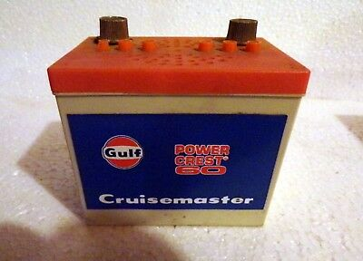 Vintage transistor Figural  battery Gulf Oil - For Parts