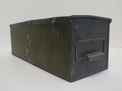 Vintage Industrial Metal Office Cabinet File Card Life-Top Drawer Box