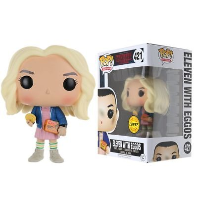 Funko POP TV Stranger Things Eleven with Eggos Chase In Wig Vinyl Figures Gift