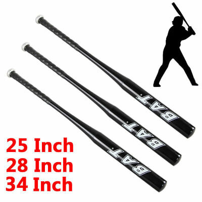 Aluminum Metal Baseball Bat Racket Softball Black Outdoor Sport 25 28 34'' Inch