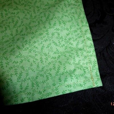 Tarot or Altar cloth Green, Earth , Gold metallic thread approx. 45cm x 45cm