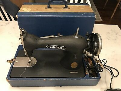 1903 Working Vintage Singer Sewing machine Wood Case Delco Motor Tennglad Pedal