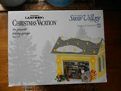 DEPT 56 NATIONAL LAMPOON'S Christmas Vacation THE GRISWOLD HOLIDAY GARAGE NIB