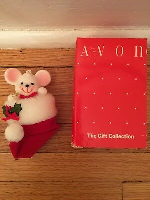 Avon Gift Collection Peek-a-Boo Mouse Ornament Christmas Holiday
