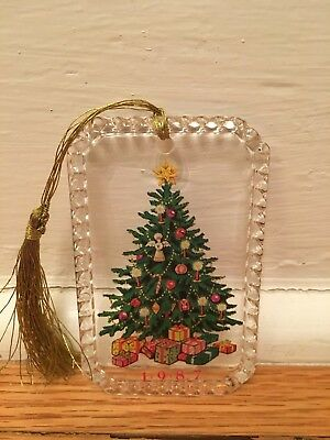 Avon Gift Collection Ornament Lead Crystal Tree 1987 Christmas Holiday