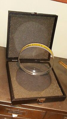 "DoAll Optical Flat ~ 6"" x 1.125"" Thk ~ .000004 Accuracy ~ Flawless (NOS)"