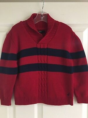 Nautica Boys Red And Navy Sweater Size 4T