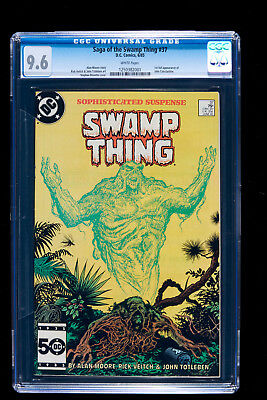 SAGA OF THE SWAMP THING #37 CGC 9.6 1st FULL APPEARANCE  OF JOHN CONSTANTINE NM