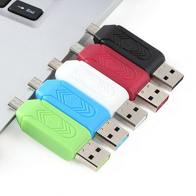 3in1 OTG Micro USB Adapter Micro SD Memory Card Reader for PC Cellphone SL