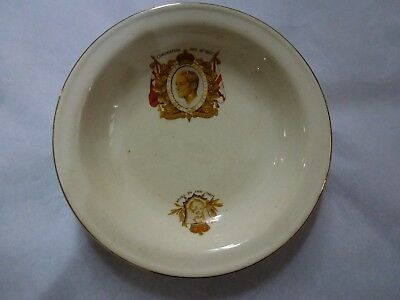 Coronation King Edward V111 rimmed bowl
