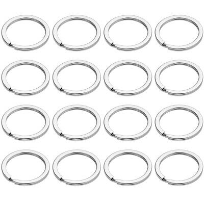 100x Round Flat Edged Key Ring Split Key Chain Keyring Keyfob Dia 28mm 30mm 32mm