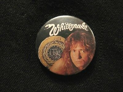 Whitesnake Vintage Badge Button Pin Not Patch Shirt Poster Cd Lp Uk Import