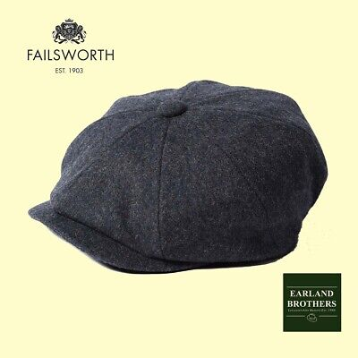 Failsworth Grey Wool Mix Newsboy Cap Alfie baker boy Peaky Shelby Cap 8  piece c8b9671a0188
