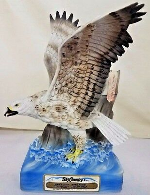 Vintage Ski Country White Falcon Whiskey Decanter Limited Edition 1977