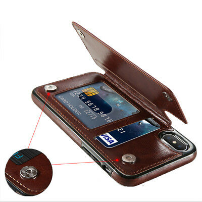 Luxury PU Leather Wallet Magnetic Flip Multi Card Holder Cover Case For iPhone