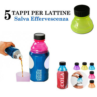5 Tappi Per Lattine Bibite In Lattina Beccuccio Salva Effervescenza Universali