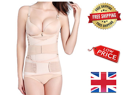 Postpartum Support Belly Belt Shapewear Waist Pelvis Recovery Trainer 3 in1 NEW