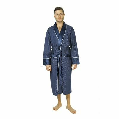 "Mens Luxury Polysilk lightweight Bathrobe ""Mayfair"" in Small to 2XL, 2 Colours"