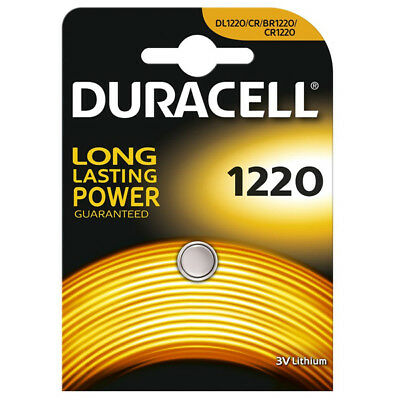 "New Duracell Single Carded 3V Lithium Coin Cell Long Lasting Battery ""Dl1220"""