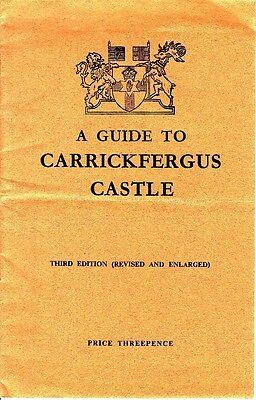 A Guide to Carrickfergus Castle 3rd Edition 1949 Booklet Northern Ireland