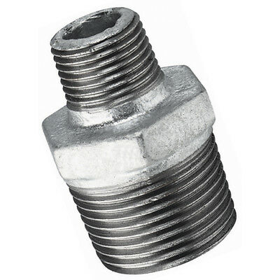 "MI245-34-38, 3/4""X3/8""    BSPT MALE HEX NIPPLE GALV, FTM Malleable Iron Fittings"
