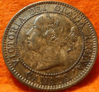 1859 XF-AU High-Grade CANADA LARGE CENT Victoria COIN NoRes CANADIAN