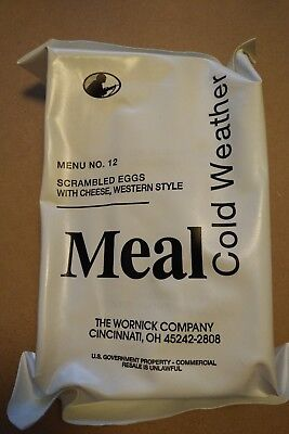 MRE Cold Weather Ration Menu No. 12 Scrambled Eggs w Cheese, western style