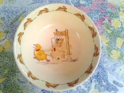 Vintage ROYAL DOULTON-BUNNYKINS CEREAL BOWL-BARBARA VERNON-TO THE HUNT BALL