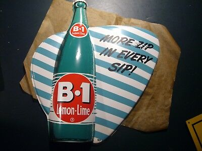1950's B-1 Lemon-Lime Soda Sign -  Vacuform - Mint from original Shipping box
