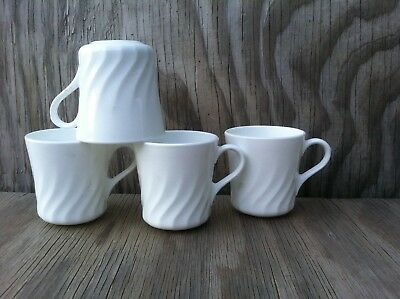 Corelle Dishes Enhancements White Swirl Cups Set Of 4