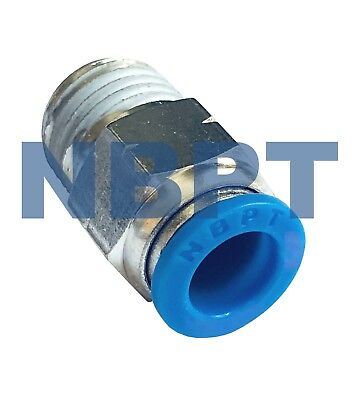 PUSH IN TO CONNECT ONE TOUCH PNEUMATIC FITTING PC 3/8 x1/8 NPT, NBPT  5 PCS