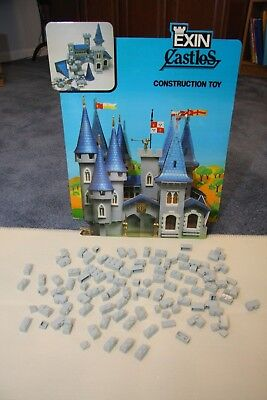 Vintage Exin Castillos  Castle Toy Blocks - Bulk box of Misc grey pieces