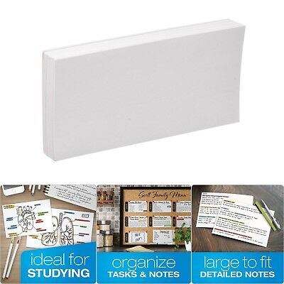 """100 CT Blank Index Cards Unruled Papers Sheets For Presentations 5"""" x 8"""", White"""