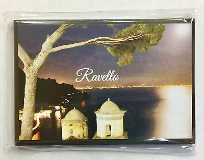 Italia-Magnets Of Italy-Wood Magnets-3,3/4 x 2,1/2 inch-MADE IN ITALY-Ravello