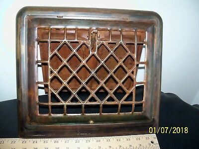 Vintage  Wall Cover~Grate~Antique Heat Supply Vent Furnace Tin