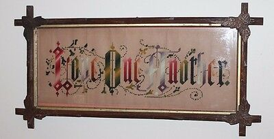 """Vintage Antique Victorian Punch Paper Motto - """"Love One Another"""""""