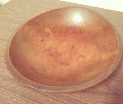 "1920's MUNISING Wooden Out of Round Wood 11"" DOUGH BOWL Excellent EARLY MARK"